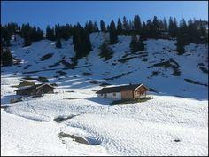 Die Hochalm bei Unken in Österreich, Schneeschuhwanderung aufs Sonntagshorn
