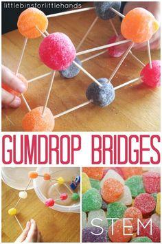 Gumdrop bridge building STEM activity