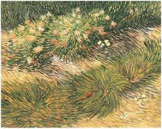 Grass and Butterflies by Vincent Van Gogh Painting, Oil on Canvas Arles, France: April, 1889 http://www.vangoghgallery.com/catalog/Painting/174/Grass-and-Butterflies.html