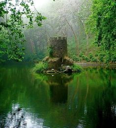 Minnie Castle in Pena's Pond, Portugal