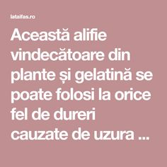 Această alifie vindecătoare din plante și gelatină se poate folosi la orice fel de dureri cauzate de uzura articulațiilor. Orice, Health, Cream, The Body, Plant, Health Care, Healthy, Salud