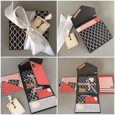 Rétro Noël Mini Boîte Cadeau x4 Multi Pack Top Notch Present Hope /& Greenwood