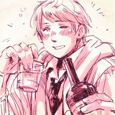 Hetalia Russia | Russia is drunk?! Is that possible!? How much did he have to drink!?