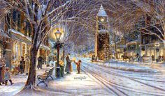 City sidewalks  Busy sidewalks  Dressed in holiday style  In the air there's  A feeling of Christmas  Children laughing  People passing  Meeting smile after smile  And on every  Street corner you'll hear    Silver Bells, Silver Bells  It's Christmas time in the city