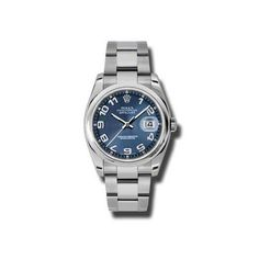 Rolex Datejust Blue Concentric Arabic Dial Oyster Bracelet Mens Watch 116200BLCAO