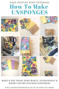 How To Make Unsponges - Zero Waste Dish Scrubbers ⋆ A Rose Tinted World Cotton Quilting Fabric, Fabric Scraps, Reuse Old Clothes, Recycled Kitchen, Skull Fabric, Thing 1, Reuse Recycle, Reduce Reuse, How To Make Clothes