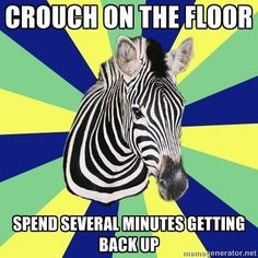 If you can't squat without pain and have difficulty getting back up… | Signs You Might Be A Zebra. #EDS