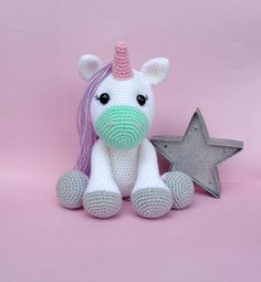 Pistachio the Unicorn - Etsy. A bit big for a lovey but she's very cute xx More