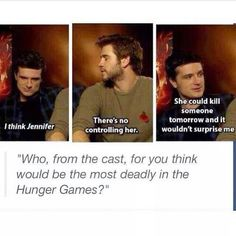 HAHAHA the funny thing is that it could be true (out of main characters at least - but Liam would be hard to beat especially if that scary brother of his [THOR!] got involved :) )