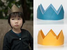 Leathette crown (like Babar?); Cute Birthday Party Outfits for Kids | Everywhere - DailyCandy