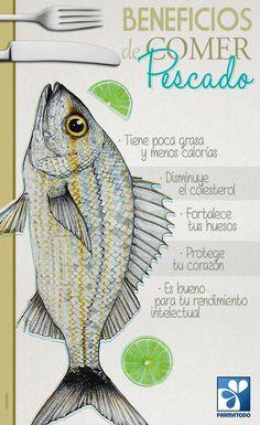 Conoce los beneficios de comer pescado #Salud #Alimentación