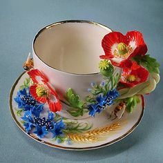 50 Most Beautiful Crockery item for your kitchen Tea Cup Set, My Cup Of Tea, Tea Cup Saucer, Tea Sets, Vintage Dishes, Vintage Tea, Cute Cups, China Tea Cups, Chocolate Pots
