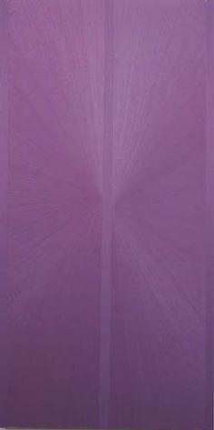 Untitled  (Lavender Butterfly Jacaranda over Green)Mark Grotjahn 2004   oil on linen