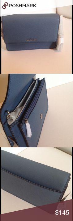 Michael Kors Daniela New! Comes with tags! Color: denim Michael Kors Bags Crossbody Bags