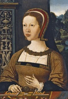 Portrait of Isabel of Portugal, Queen of Denmark. By Jacob Cornelisz van Oostsanen, c. 1524.
