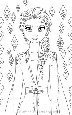 Elsa Coloring pages - Elsa from Frozen 2 – Cristina is Painting Frozen Coloring Pages, Barbie Coloring Pages, Disney Princess Coloring Pages, Disney Princess Colors, Cute Coloring Pages, Cartoon Coloring Pages, Christmas Coloring Pages, Coloring Pages To Print, Printable Coloring Pages