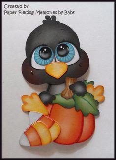 #crow #candycorn #pumpkin #paperpiecingmemoriesbybabs #kadoodlebugdeskigns