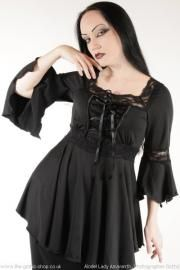 b70fff69a23 Stunning gothic medieval blouse top with lacing up corset front