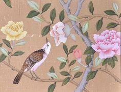 爱 Chinoiserie? Mais Qui! 爱 home decor in Chinese Chippendale style - hand painted chinoiserie wallpaper