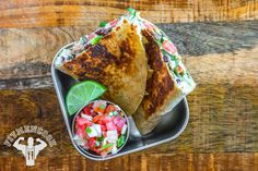 Try this Avocado & Chicken Quesadilla from the FitMenCook app