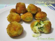 Deliziose e squisite Polpette di Patate e Zucchine con un cuore filante di soffice mozzarella per uno squisito contorno che piacerà anche ai piccoli di casa