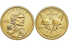 Sacagawea and Native American One Dollar Coin Values Valuable Pennies, Rare Pennies, Valuable Coins, Dollar Coin Value, Old Coins Worth Money, Sacagawea Dollar, American Dollar, Coin Art, Error Coins