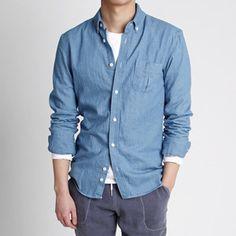 네츄럴한 워싱 남자 데님 셔츠,남방-shirt24 - [존클락]30대 남자옷쇼핑몰, 깔끔한 캐쥬얼 데일리룩, 추천코디