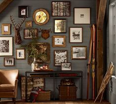 A woodsy wall collage...