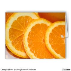 Orange Slices Stationery Note Card