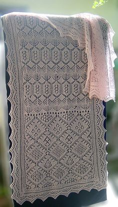 Ravelry: Sampler Stole pattern by Hazel Carter from a Gathering of Lace