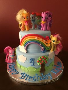 Ideas para tu Fiesta: My little pony-Party Cumple My Little Pony, My Little Pony Cake, My Little Pony Birthday Party, Fourth Birthday, 6th Birthday Parties, Birthday Fun, Birthday Ideas, Themed Parties, Cake Birthday