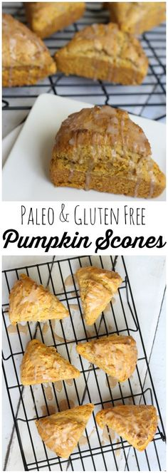 Paleo grain free pumpkin scone recipe with original and gluten free recipes.