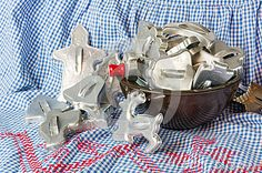 Bowl full of vintage cookie cutters by Zigzagmtart, via Dreamstime