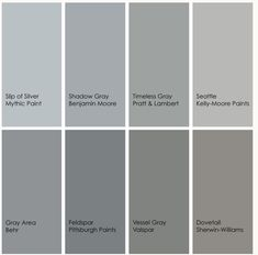 Grey Paint Ideas most popular gray paint colors | more benjamin moore choices