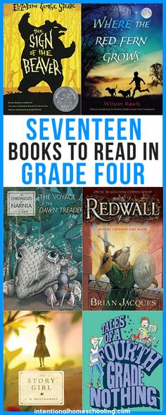 17 Independent Reads for Grade 4 - Intentional Homeschooling - - Every year I like to create a list of independent reads for my daughter (and will do the same for my son once he is reading on his own). She never reads. 4th Grade Books, 4th Grade Reading, Kids Reading, Fourth Grade, Close Reading, 4th Grade Book List, Third Grade, Reading Lists, Great Books To Read