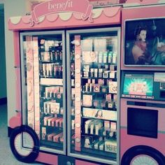 A Benefit Cosmetics vending machine! What a cool idea!