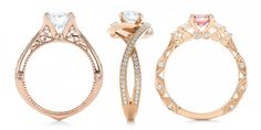 7 Incredible Rose Gold Rings That Will Melt Your Heart Jewels Clothing, Fashion Jewelry, Gold Jewelry, Jewelry Rings, Jewellery, Rose Gold Engagement, Engagement Rings, Stone Rings, Ring Earrings