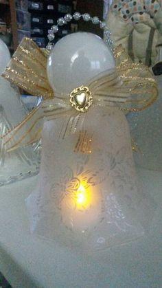 Glass lampshade angel