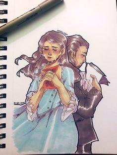 "sakurai-sanxiceland: "" Hamilton : Eliza & Alexander @sakurai-sanxiceland """