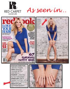 Check out the gorgeous Heidi Klum in the upcoming November issue of Redbook Magazine wearing Red Carpet Manicure