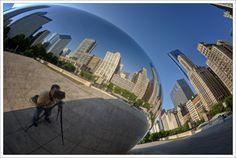 """Self Portrait at Cloud Gate"" by Jack Church, via 500px."