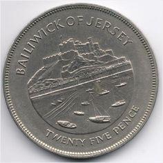 Jersey 25 Pence (Crown) 1977 Silver Jubilee Veiling in de Regionale Uitgaven,Brits,Munten,Munten & Banknota's Categorie op eBid België