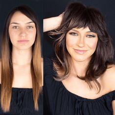 Mid Haircuts, Blonde Haircuts, Thick Bob Haircut, Medium Hair Styles, Short Hair Styles, Bob Styles, Medium Hair Cuts For Women With Bangs, Angled Hair, Wavy Lob