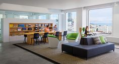 This lobby provides various seating options and a quiet place to retreat.