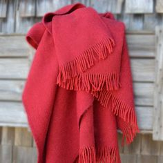 The perfect Wool Throw for keeping warm & story telling while camping. Hunting Lodge Decor, Keep Warm, Wool Blanket, Home Accessories, Wool Throws, Red, Color, Shopping, Strawberry