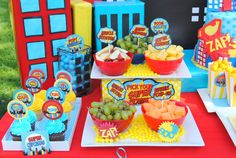 COMIC HERO Party - COMPLETE- Hero Birthday - Hero - Superhero - Super Hero - Superhero Party
