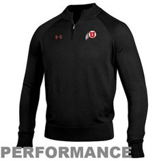 Under Armour Utah Utes Classic AllSeasonGear Quarter Zip Performance Sweatshirt - Black #uofublackout13