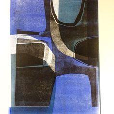 Three colour relief print