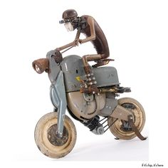 The Incredible Whimsical Steampunk Sculptures of Stephane Halleux.