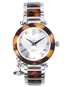 My kind of Valentine's Day jewelry (I wish!)... Vivienne Westwood Orb Tortoise and Silver Bracelet Watch